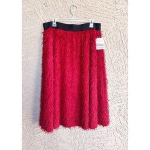 LULAROE Elegant ✨NWT✨ Jill Eyelash Fringe Skirt